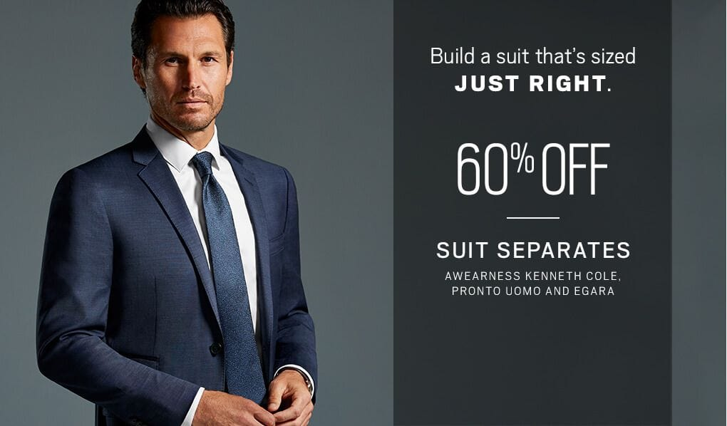 Build a suit thats sized JUST RIGHT. 60% Off Suit Separates AWEARNESS  Kenneth Cole 792831baf