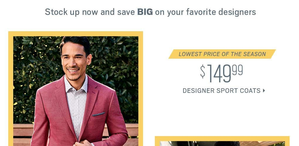95c0e8591b4 Stock up now and save BIG on your favorite designers Lowest price of the  season  149.99