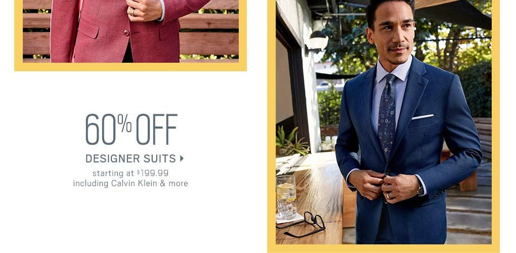 a70cb655e39 60% Off Designer Suits starting at  199.99 including Calvin Klein and More