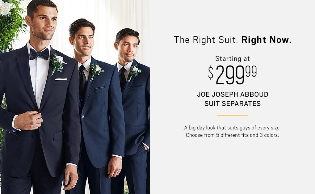 The Right Suit Now Starting At 299 99 Joe Joseph Abboud Separates