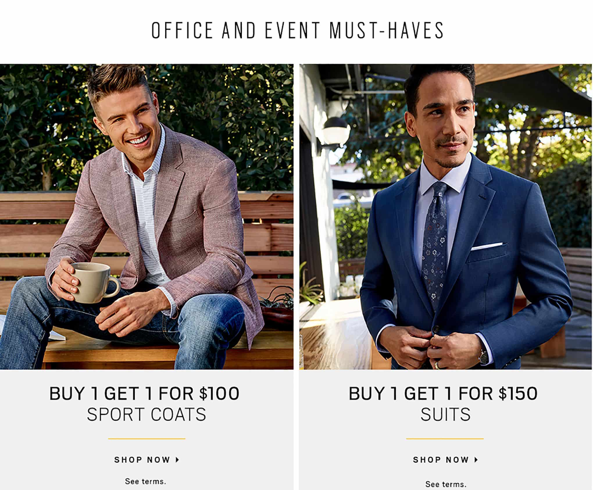 11dffc50a5 Shop Men's Clothing - Mens Suits, Dress Shirts & Sportcoats | Men's ...