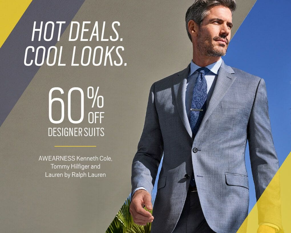 da058df23233f Hot Deals Cool Looks 60% off Designer Suits. AWEARNESS Kenneth Cole, Tommy  Hilfiger
