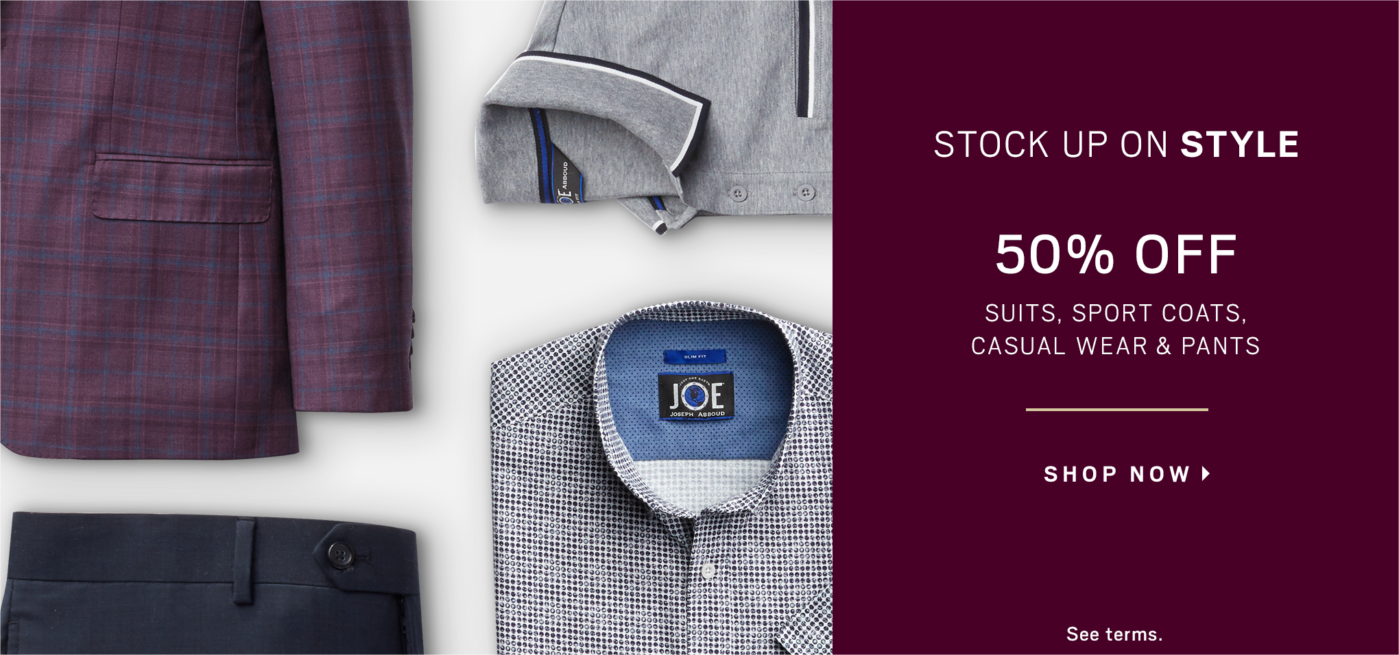 Shop Men's Clothing - Mens Suits, Dress Shirts & Sportcoats