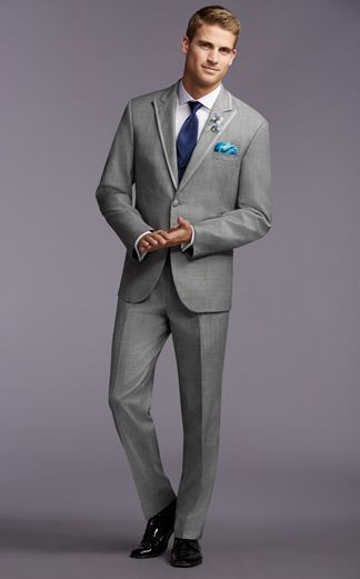 Prestyled Wedding Tuxedos White Grey Classic Modern