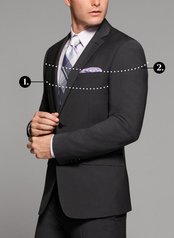 096bf855b1f01 photo of man with suit measurement details. HOW TO MEASURE FOR A BLAZER   SPORT  COAT