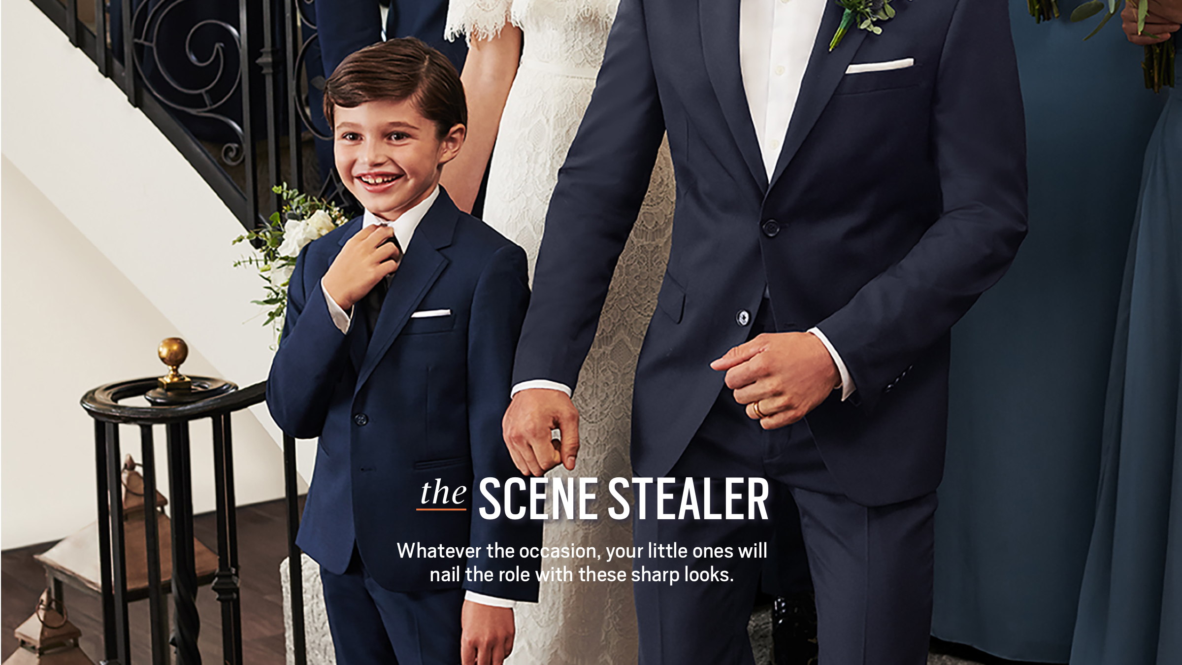 The Scene Stealer. Whatever the occasion, your little ones will nail the role with these sharp looks.
