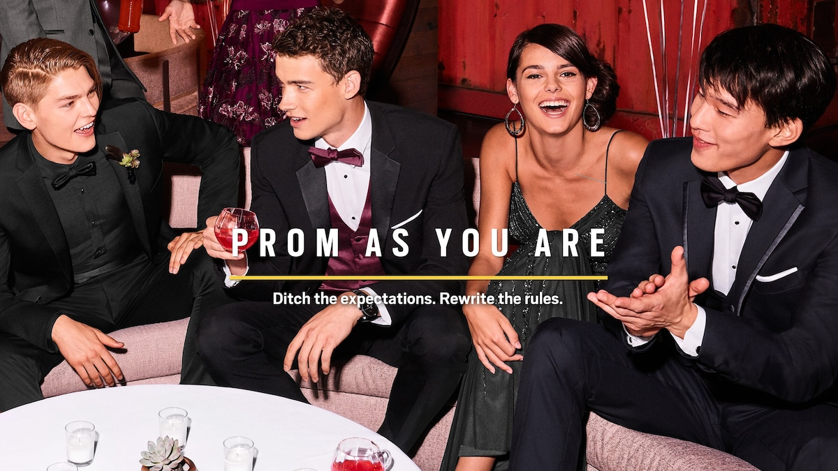 Prom as you are. Ditch the expectations. Rewrite the rules.