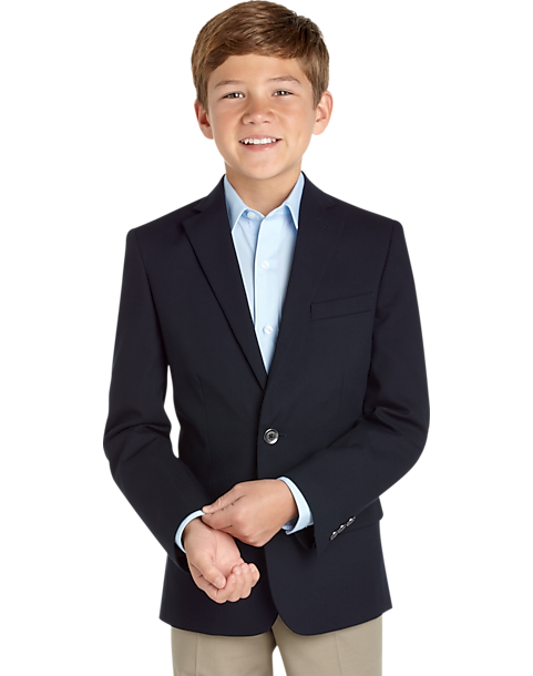 Calvin Klein Boys Navy Husky Fit Blazer - Menu0026#39;s Boys Sport Coats | Menu0026#39;s Wearhouse