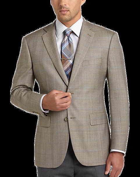 Pronto Uomo Platinum Modern Fit Sport Coat, Tan Plaid - Men's ...