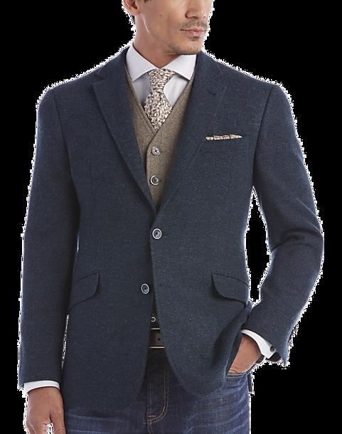 JOE Joseph Abboud Blue Herringbone Slim Fit Sport Coat - Men's ...