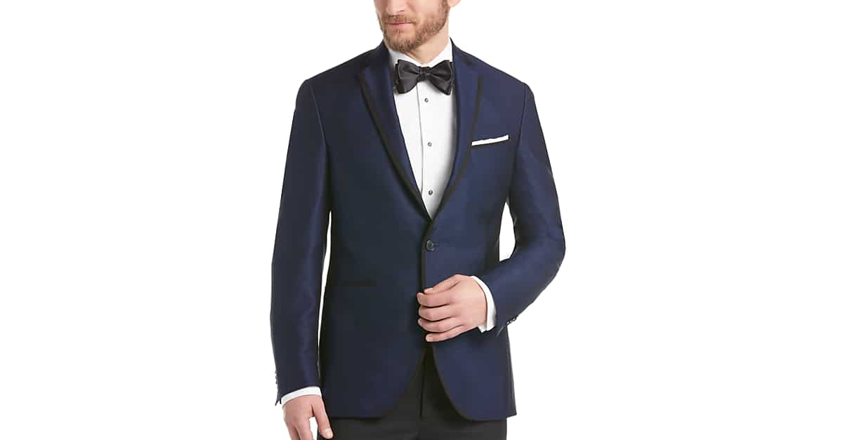 Kenneth Cole New York Blue Slim Fit Dinner Jacket - Men's Slim Fit ...