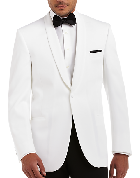 3399e9b8c Michael Kors Shawl Collar Modern Fit White Dinner Jacket - Men's ...
