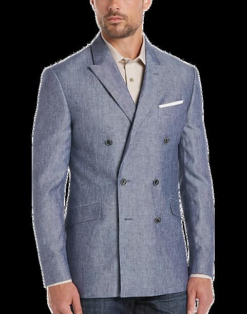 JOE Joseph Abboud Blue Linen Slim Fit Sport Coat - Men's Slim Fit ...