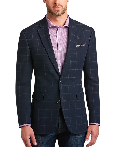 Tommy Hilfiger Blue Windowpane Slim Fit Sport Coat - Men's Sport ...