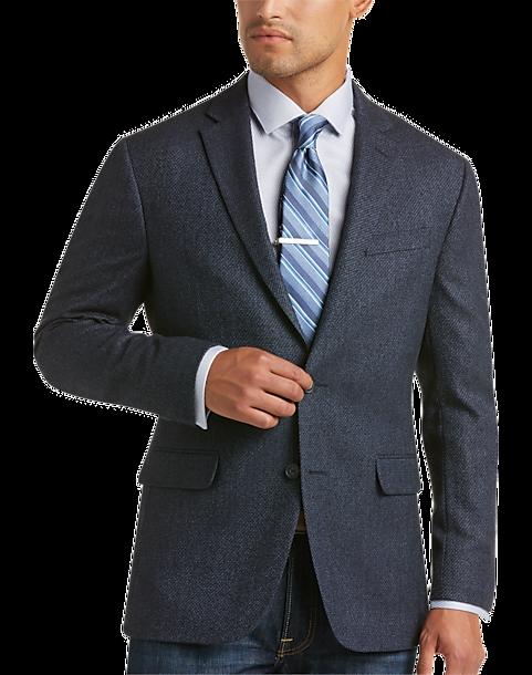 Blue Tic Slim Fit Sport Coat - Men's Sport Coats - Awearness ...