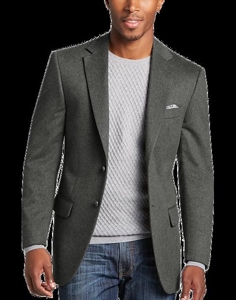 Joseph Abboud Gray Modern Fit Sport Coat - Men's | Men's Wearhouse