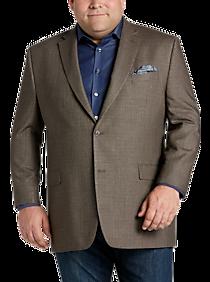 Mens Clearance Sale Lauren By Ralph Lauren Brown Tic Check Sport Coat Portly