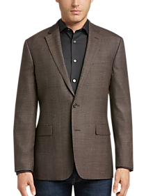a3703a52c Mens Clearance - Awearness Kenneth Cole Brown Windowpane Slim Fit Sport  Coat - Men's Wearhouse