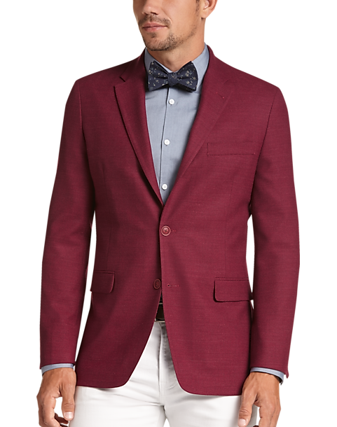 tommy hilfiger maroon slim fit sport coat men s men s wearhouse