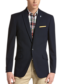 Ben Sherman Plectrum Blue Plaid Extreme Slim Fit Sport Coat