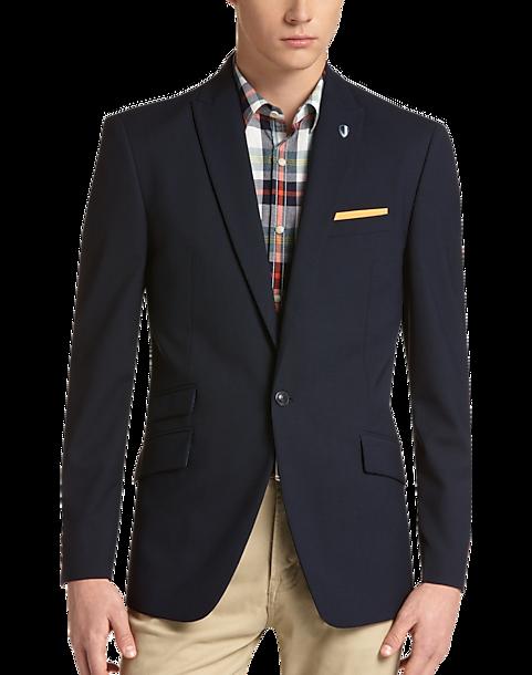 Ben Sherman Plectrum Blue Plaid Extreme Slim Fit Sport Coat Men S