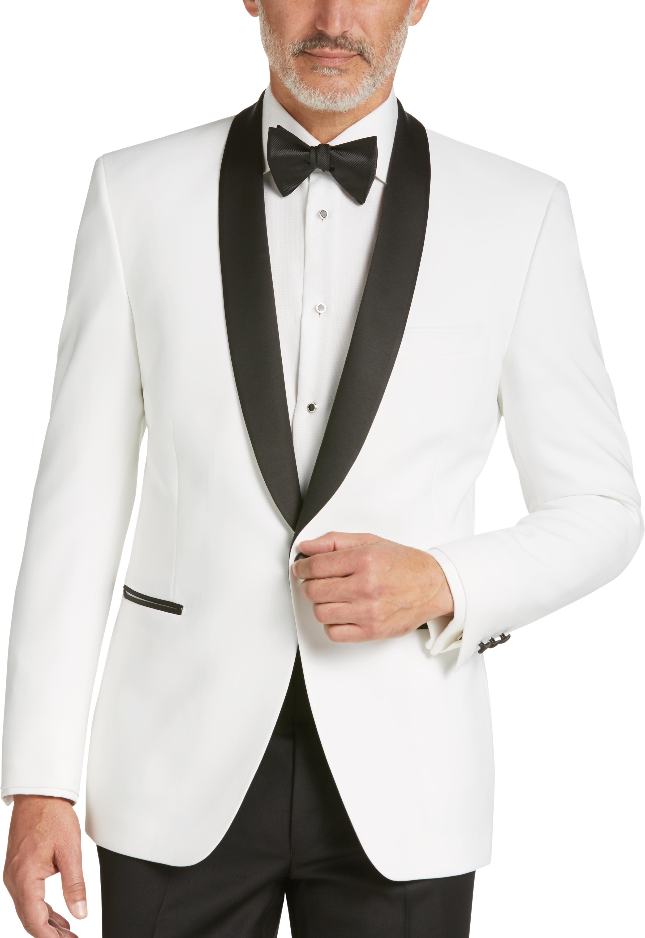 3b3371011dff Egara White Slim Fit Dinner Jacket - Mens Home - Men s Wearhouse
