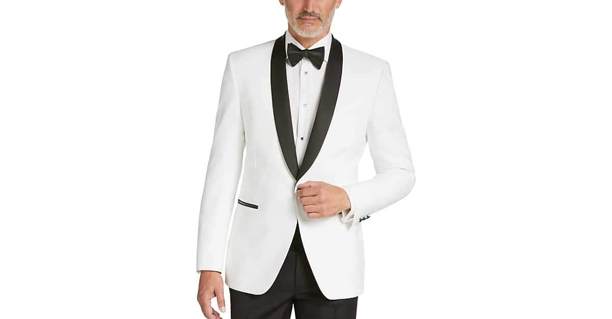 1aaeefd96 Egara White Slim Fit Dinner Jacket - Men's Sport Coats | Men's Wearhouse