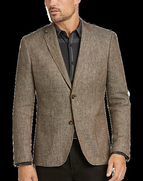 08b1714b Like No Other Tan Tweed Slim Fit Sport Coat - Men's Sport Coats ...