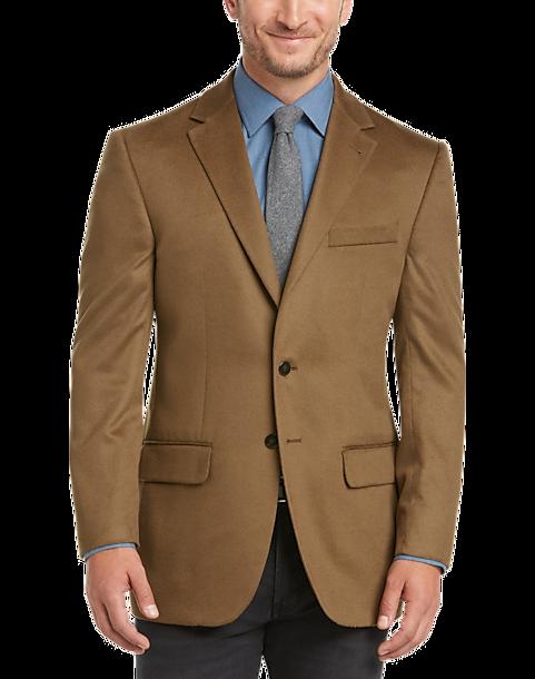 Joseph Abboud Tan Cashmere Sport Coat - Men's Sport Coats | Men's ...