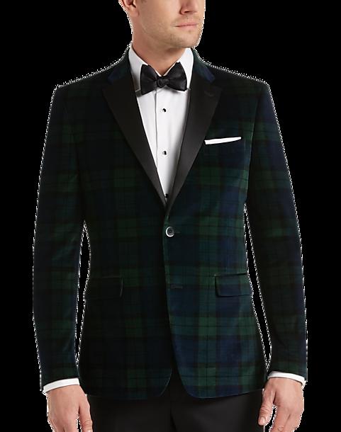 Black watch tartan tuxedo jacket