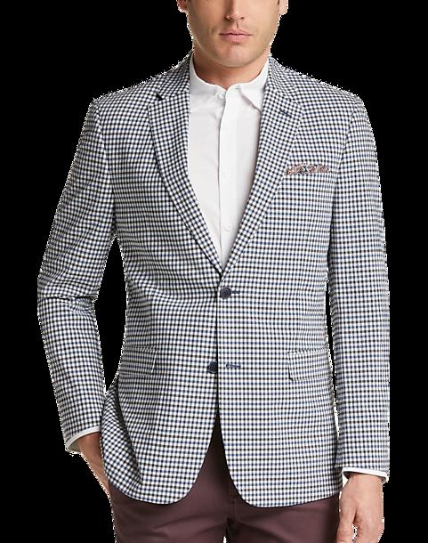 02675bfdf Tommy Hilfiger Blue Check Seersucker Slim Fit Sport Coat - Men's ...