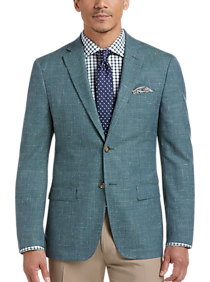 Lauren by Ralph Lauren Teal Modern Fit Sport Coat
