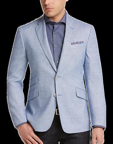 01f6a06b JOE Joseph Abboud Light Blue Tic Slim Fit Sport Coat