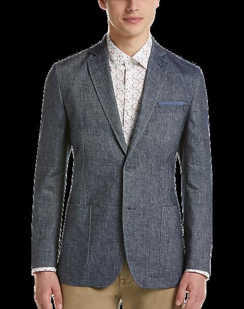 Ben Sherman Mens Two Button Slim Fit Paisley Sportcoat