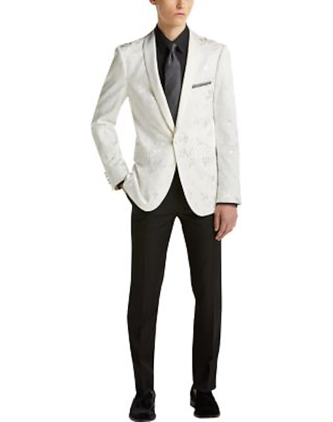 hot products hot-selling newest structural disablities Paisley & Gray Dinner Jacket, White Floral
