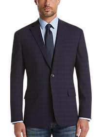 big selection of 2019 100% authentic discover latest trends Awearness Kenneth Cole Blue Check Slim Fit Sport Coat