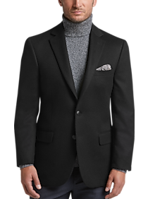 Mens Daily Deal Clothing Joseph Abboud Limited Edition Black Modern Fit Sport Coat