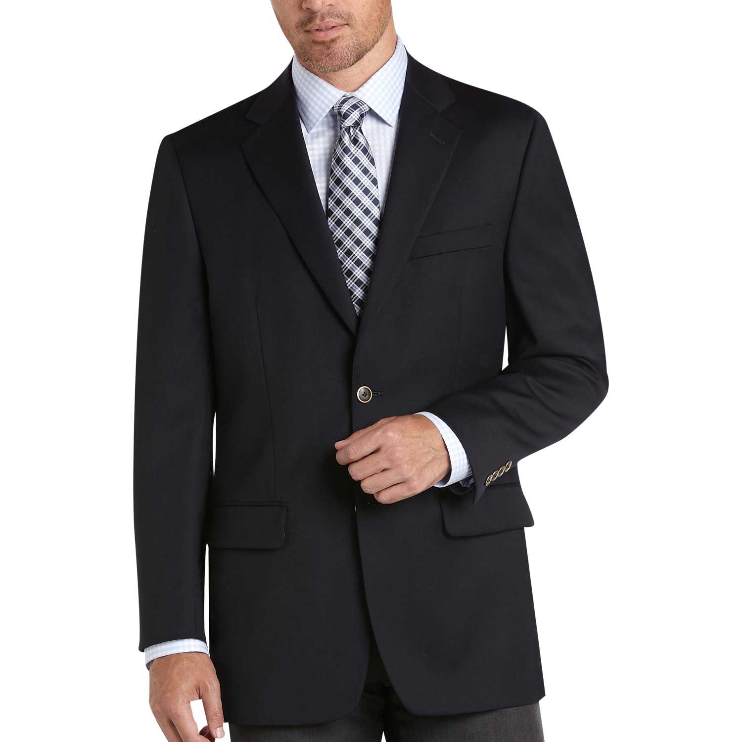 187b2828 Mens Classic Fit, Sport Coats - Joseph & Feiss Gold, Classic Fit Navy Blazer