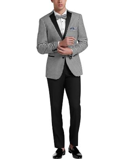 4bf3096ea30f Paisley & Gray Slim Fit Suit Separates Dinner Jacket, Black & White ...