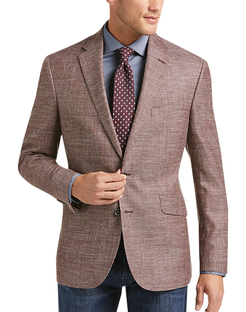 3494d500 Joseph Abboud Limited Edition Rust Tic Modern Fit Sport Coat