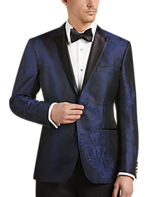 236bca909 Awearness Kenneth Cole Blue Jacquard Slim Fit Dinner Jacket