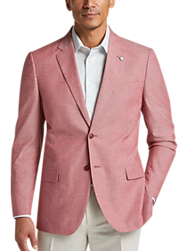 Nautica Chambray Modern Fit Sport Coat (Red)