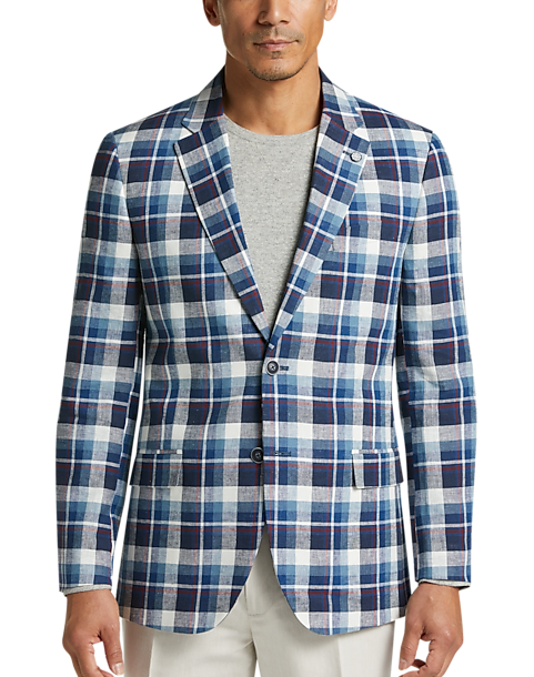 6a603dde Nautica Blue & White Plaid Modern Fit Sport Coat - Men's Sport Coats ...