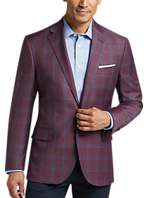 705d3d623630 Mens Polished Casual, Featured - Joseph Abboud Limited Edition Dusty Rose  Plaid Modern Fit Sport