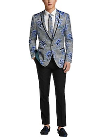892c29c481e Mens Sport Coats - Paisley   Gray Slim Fit Dinner Jacket