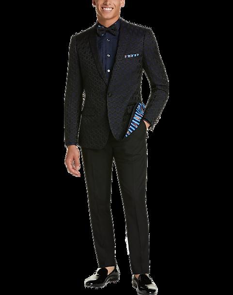 a767e13029a Paisley & Gray Slim Fit Dinner Jacket, Navy & Black Circle - Men's ...