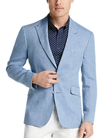 db069ed49 Mens Sport Coats - JOE Joseph Abboud Light Blue Linen Slim Fit Sport Coat -  Men's