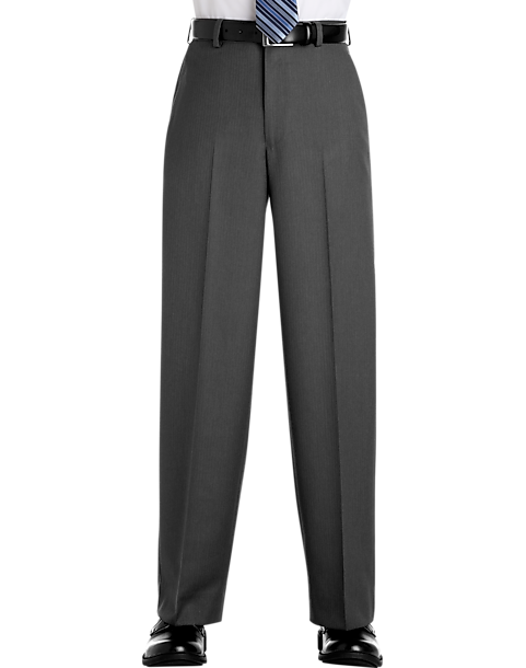 5e8221a99ca0 Joseph   Feiss Boys Gray Stripe Husky Suit Separates Slacks - Men s ...