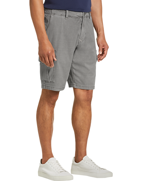 cd388c290d18c Lucky Brand Charcoal Gray Modern Fit Cargo Short - Men's Pants ...