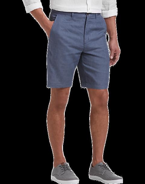 0711c351 Joseph Abboud Indigo Modern Fit Linen Shorts - Men's Pants | Men's ...